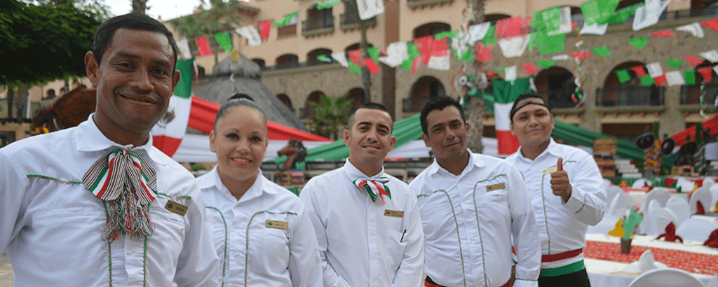 Staff of Club Solaris Cabos on the 15th of September